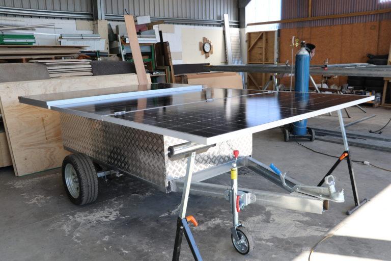 Solar panel trailer